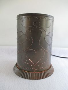 Lantern Vintage Punched Tin Electric Potpourri by HobbitHouse