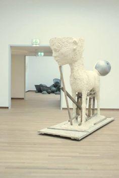 Johan Tahon, 'Iph / Titus' at Bonnefantenmuseum Maastricht. NL. Plaster and wood 2010.