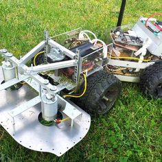 autoCut is an automatic lawn mower. The goals are: - Fully automatic operation - Battery changing station instead of charging - Long term: Do not drive through the garden in a random manner but with a plan