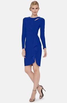 Catherine Catherine Malandrino 'Terri' Keyhole Drape Front Dress available at #Nordstrom