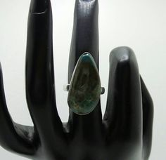 Chrysocolla Sterling Silver ring, size 6. by FierStaarGems on Etsy