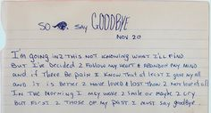 So I Say Goodbye - Tupac's Handwritten Poem - 2Pac Legacy