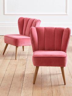 NEW Westbury Velvet Chair - Desert Rose - Chairs - Furniture