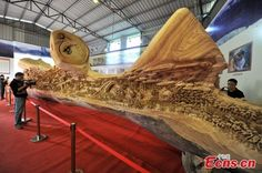 Revisiting the World's Longest Wood Carving | Hi-Fructose Magazine