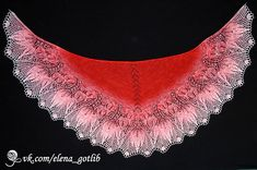 Ravelry: Gloriosa Lace Shawl pattern by Elena Gotlib Knitted Shawls, Crochet Scarves, Wire Crochet, Knit Crochet, Lace Knitting, Knitting Patterns Free, Crochet For Beginners, Mulberry Silk, Cool Patterns