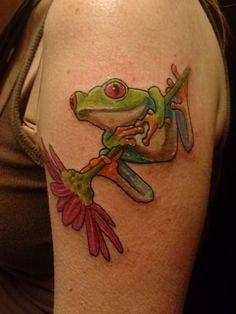 My new frog tattoo!