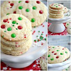Christmas Cookies - Funfetti Cookies