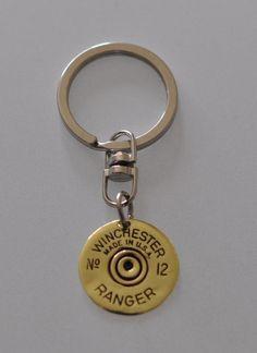 Rare Vintage Winchester Ranger 12 Gauge  Shotgun Shell  Bullet keychain Keyring