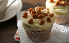 Filled Banoffee Cupcakes by Lotte Duncan (Banana, Caramel) @FoodNetwork_UK