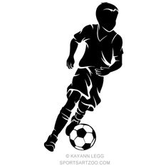 Boy with a Soccer Ball Silhouette Soccer Pro, Soccer Boys, Youth Soccer, Soccer Games, Soccer Tattoos, Football Tattoo, Soccer Silhouette, Silhouette Vector, Soccer Banner
