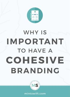 Find out the why is important to have a cohesive branding. See the 4 reasons to have a coherent brand design for your small business Brand Identity Design, Branding Design, Logo Design, Graphic Design, Online Marketing, Social Media Marketing, Business Checks, Creating A Brand, Social Media Graphics