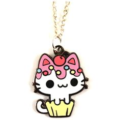 kawaii necklace vanilla cupcake