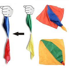 22 cm * 22 cm Seidenschal Für Zaubertrick Von Herrn Tricks Witz Requisiten Werkzeuge Spielzeug Ändern Farbe Kinder kinder Geschenke