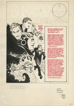 "rodrigobaeza: "" Alex Toth: Bravo for Adventure promotional artwork (Source: ComicLink auctions) "" Very nice original page promoting arguably Alex Toth's masterpiece. Comic Book Pages, Comic Book Artists, Comic Artist, Comic Books Art, Retro Illustration, Pencil Illustration, Alex Toth, Bristol Board, Comic Panels"