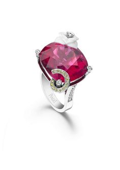 """Piaget. Limelight """"sweet rose"""" cocktail party rubelite ring...♡"""