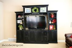 Cool DIY Entertainment Center Ideas & Plans, Your Unlimited Homemade Leisure! Wall Mount Entertainment Center, Entertainment Room, Cool Diy, Easy Diy, Porches, Tv Decor, Decor Room, Wall Decor, Do It Yourself Home