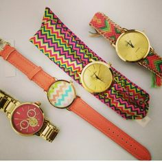Pink, gold & xoral watches