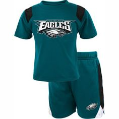 Little quarterbacks want to be dressed in the #Eagles Short Sleeve T-Shirt and Short Set! $24.99
