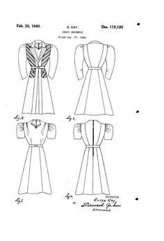 1941 DESIGN FOR A DRESS ENSEMBLE  Elsye Kay