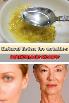 Natural Botox for wrinkles: Homemade recipe