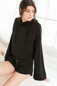 Out From Under Drapey Hoodie Sweatshirt - Urban Outfitters