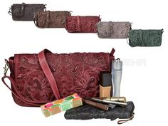 Billy The Kid MAROKKO - Leder Clutch Ella Abendtasche Damentasche Handtasche - 5 Farben