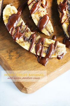 Honey Grilled Bananas with Mocha Chocolate Sauce - Lexi's Clean Kitchen