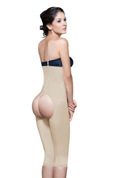 Open bottom shapewear design enhances and shapes the volume of your buttocks while trimming waistline inches. Smoothes waistline, back fat and thighs