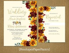 Weddings - An amazing and fun info on concept. romantic weddings theme classic suggestions pinned on this date 20191031 number 3435141245 Fall Sunflower Weddings, Sunflower Wedding Decorations, Sunflower Wedding Invitations, Fall Wedding Centerpieces, Blue Sunflower Wedding, Stage Decorations, Diy Invitations, Rose Wedding, Wedding Sets