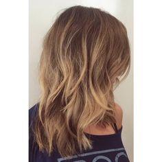 Instagram media by eva_sofiya - Hair Transformation of the day.  #balayage  #lowlight #highlight  #haircut  #texture  #IGK  #lob