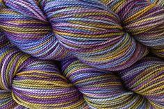 Fingering Weight Hand Painted Merino Wool Sock by eweandmeyarns, $22.00