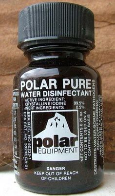 Polar Pure is back!!! SUCH great news!! THE best water purification method available!! The water tastes great and these little bottles last forever!! If you haven't tried Polar Pure, you absolutely have to!! Get them while you can! They have been having struggles with the DEA over the main active ingredient, but you can get them here!!!