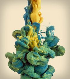 sixpenceee:  High speed photographs of ink being dropped in water by Alberto Seveso.