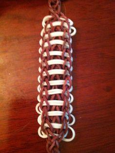 Football rainbow loom bracelet