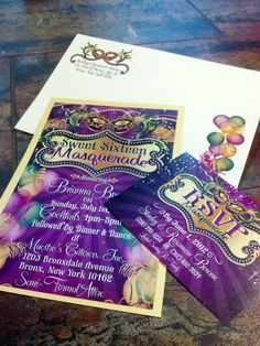 One of our best seller's is at it again! We can't keep this one off the press! If you are planning a Mardi Gras or New Orleans themed birthday then this is the PERFECT invitation for you! Make a real impression with matching envelopes and RSVP cards!