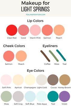 Light Spring Makeup Colors