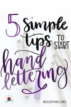 Interested in hand-lettering your Bible? These 5 easy tips will help you get started with hand lettering and enhance your Bible journaling. Hand Lettering For Beginners, Hand Lettering Tutorial, Hand Lettering Practice, Hand Lettering Alphabet, Doodle Lettering, Creative Lettering, Brush Lettering, Lettering Styles, Calligraphy For Beginners
