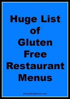 Gluten free on the go! Here are restaurant menus with GF options! Gluten Free Menu, Gluten Free Diet, Foods With Gluten, Gluten Free Cooking, Dairy Free Recipes, Burger King Gluten Free, Lactose Free, Gluten Free Restaurants, Planning Budget