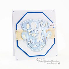 Today I'm sharing a card made using one of the new Corner Die s from Tonic Studios. These sets contains two beautiful dies – a decorative corner die and a verso backing plate die. Scrapbooking Photo, Frame Crafts, Album, Bunting, New Baby Products, Balloons, Crafts For Kids, Card Making, Cards