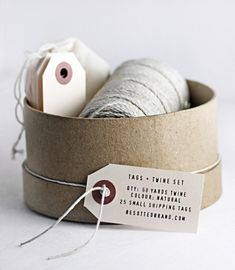 New! Tags + Twine set. A little thicker than our Parcel twine (approx 1.8mm thick). An excellent addition to your packaging pantry.