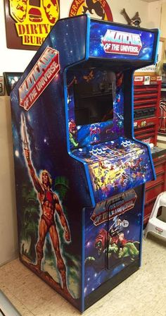 Masters of the Universe arcade video game He-Man video games