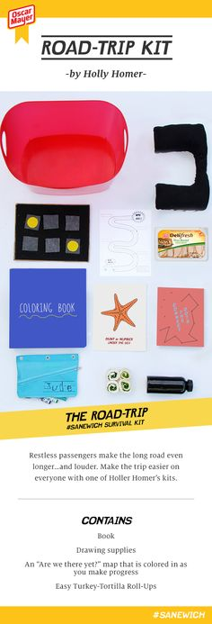 Road Trip Survival Kit - Everything you need to enjoy a long car ride with kids! Brought to you by @oscarmayer