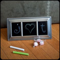 DIY Chalkboard Frame (Make it for Christmas) - Frugal Upstate Cute Gifts, Diy Gifts, My Vinyl Direct, Chalkboard Vinyl, Monogram Decal, Christmas Diy, Diy And Crafts, Crafty