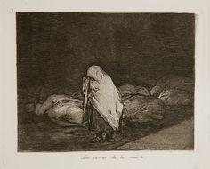 Francisco Goya, Los Desastres de la Guerra - No. 62 - Las camas de la muerte, (1810-1820) 1863. Etching with aquatint, engraving, & drypoint.