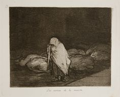 Francisco Goya, Los Desastres de la Guerra - No. 62 - Las camas de la muerte, (1810-1820) 1863. Etching with aquatint, engraving, & drypoint.