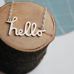 Collar de nombre personalizado. Joyería por Joannarutter en Etsy, $170.00