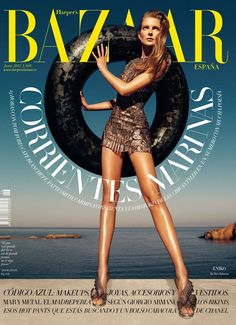 #houseofmagazines | Eniko Mihalik Covers Harper's Bazaar Spain June 2012 in Paco Rabanne