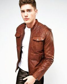"""poangielsku: """"A hot guy in leather """""""