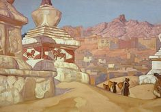 """Николай Рерих """"Конь счастья, 1925"""""""