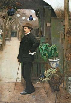 Retrato de Miquel Utrillo, Santiago Rusiñol